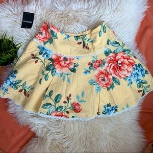 🆕 FOREVER 21 YELLOW FLORAL SUMMER SKIRT SIZE M